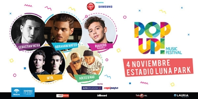RUGGERO PASQUARELLI se suma al POP UP! MUSIC FESTIVAL: 4 de noviembre, Estadio Luna Park!